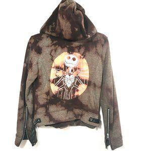DISNEY Custom Acid Wash Sweatshirt Tie Dye Jacket